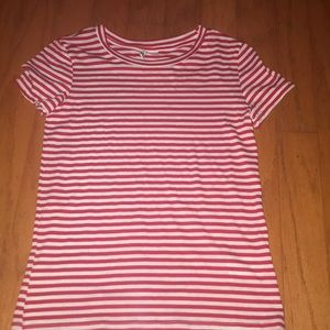 red and white striped shirt